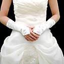 Handschuh Ellenbogen Länge Ohne Finger Satin Brauthandschuhe