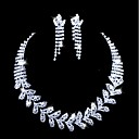 Beautiful Alloy With Rhinestones Wedding Jewelry Set,Including Necklace And Earrings
