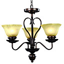 3-light Glass Chandelier
