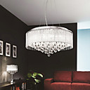 Elegant Crytal Pendant Light with 8-Lights in Cylinder Shade