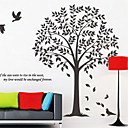 나무 장식 벽 스티커