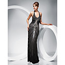 TS Couture Formal Evening / Military Ball Dress - Black Plus Sizes / Petite Sheath/Column Halter Floor-length Polyester