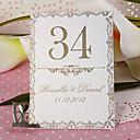 placeringskort och innehavare personlig bordsnummerkort - gammaldags (uppsättning av 10)