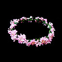 Pink Flowers Flower Girl Garland/Headpiece