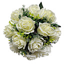 Ivory Satin Rose Bridal Bouquet