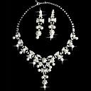 witte parel tweedelige fantasie dames sieraden set (45 cm)