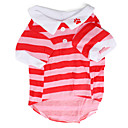 Dog Shirt / T-Shirt Red Spring/Fall Stripe