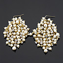 Drop Earrings Women's Alloy Earring Pearl