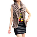 Fur Vest With Sleeveless Turndown Collar Evening/ Office In Rabbit Fur   (More Colors)