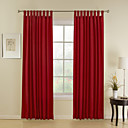 Two Panels Red Stripe Poly / Cotton Blend