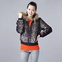 Met lange mouwen met capuchon Collar Avond / Carrière Hoge kwaliteit Faux Fur Jacket (meer kleuren)