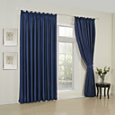 TWOPAGES® Blackout Solid Classic Minimalist Curtain One Panel Grommet Top