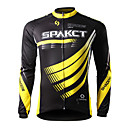 SPAKCT- Professional 100% Polyester Men's Low-Resistance Bicycle Jersey (Black)