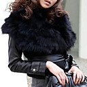 Fur Vest With Sleeveless Turndown Collar Casual In Faux Fur