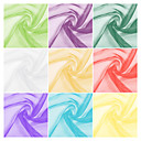 100% Polyester Organza Fabric By The Yard (Many Colors)