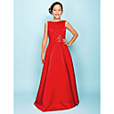 Floor-length Satin Junior Bridesmaid Dress - Ruby A-line/Princess Bateau