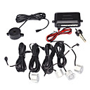 Parking System avec 4 + Radar Control Box + Buzzer, Argent