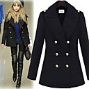 Lady Fashion Lapel Tweed Coat