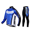 MYSENLAN Men's Warm Cycling Jersey+Tights/Pants (Suit) Fall and Winter Dual Side Fleece