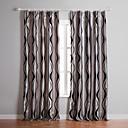 (Dois painéis) de prata curva sala reunindo escurecimento cortina