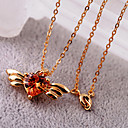 Women's Crystal Wing Pendant Necklace