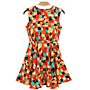 ALAN Geometric Print Skater Dress (More Colors)