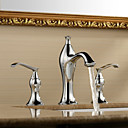 Sprinkle® Sink Faucets Widespread with Chrome Two Handles Three Holes