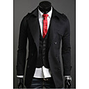 Men's Double Breasted Cotton Lapel Overcoat
