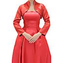 Long Sleeve Stretch Satin Evening/Wedding Wrap/Evening Jacket (More Colors) Bolero Shrug