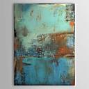pinturas al óleo de color azul lienzo pintado a mano de la vendimia abstracta uno del panel listo para colgar