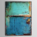 Oil Paintings Vintage Abstract Blue Color with Numbers  Hand-painted Canvas Ready to Hang