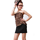 ZHI YUAN Leopard Two Pieces Like Belt Bodycon Dress