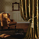 (Two Panels) Michelle Luxury® Jacquard European Energy Saving Curtain