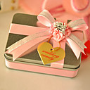 Square Favor Tin With Double Ribbon Bow (Set of 6)