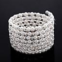 damas elegantes de los diamantes de imitación cadena / de tenis pulsera en blanco perla