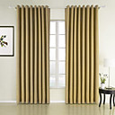Sound Absorption Natural Texture  Energy Saving Curtain (Two Panels)