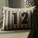 Numeral Pattern Print Decorative Pillow Cover