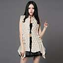 Fur Vest With Fashion Collarless Sweater/Rabbit Fur Casual/Party Vest(More Colors)