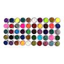 50 colores brillo Decoración de uñas