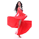 Dancewear Tulle with Crystal Belly Dance Outfit Top and Skirt For Ladies More Colors