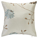 Country Beige Embroidery Polyester Decorative Pillow Cover