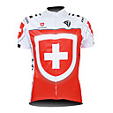 Kooplus Men's Cycling Jersey 2015 Short Sleeve Switzerland Pattern 100% Polyester Short Sleeve Breathable