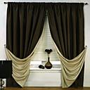 (Två paneler) enastående energibesparing klassiska gardin