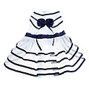 Dog Dress / Clothes/Clothing Blue Summer Stripe Cosplay