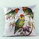 país pássaros de seda fronha decorativo