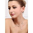 Women's Alloy Jewelry Set Crystal/Imitation Pearl