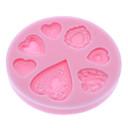 3d dolce tema cuore muffa del biscotto silicone biscotto