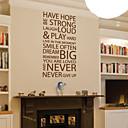 parole e citazioni adesivi murali non hanno speranza non si arrendono mai stickers murali lavabili