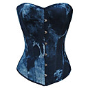 Ink Blue Gradation Canvas Gothic Lolita Corset