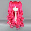 Morango Fantasia rosa Curly Pigtail 65 centímetros Punk Lolita peruca